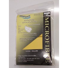 Aquatouch Applicator Pads Suede Microfibre Yellow